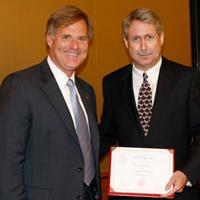 Dean William A. Baeslack III presents 2008 Distinguished Alumnus Award